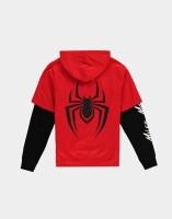 Spider-Man Kapuzenjacke - Miles Morales Double Sleeve Hoodie (rot/schwarz) M