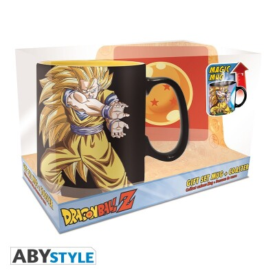 Dragonball Z Geschenkbox: Goku Kamehameha (Keramiktasse, Untersetzer)