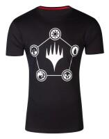 Magic the Gathering T-Shirt - Wizards Mana (schwarz)