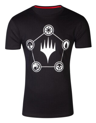 Magic the Gathering T-Shirt - Wizards Mana (schwarz) M