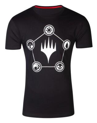 Magic the Gathering T-Shirt - Wizards Mana (schwarz) XL