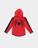 Spider-Man Sweatjacke mit Kapuze Miles Morales (rot-schwarz) 122/128