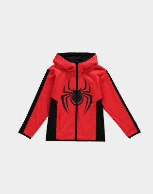 Spider-Man Sweatjacke mit Kapuze Miles Morales (rot-schwarz) 146/152