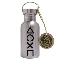 Playstation Trinkflasche ECO Edelstahl Buttons