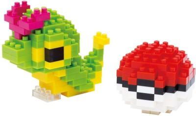 Pokemon nanoblock Bauset Raupy & Pokeball