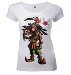 Legend of Zelda Damen T-Shirt (Girlie): Majoras Mask (weiss) L
