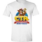 Crash Team Racing T-Shirt - Nitro Fueled Logo (weiß) S
