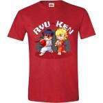 Street Fighter T-Shirt - Ryu vs. Ken (rot) S