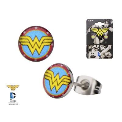 Wonder Woman Ohrringe - Logo round stud