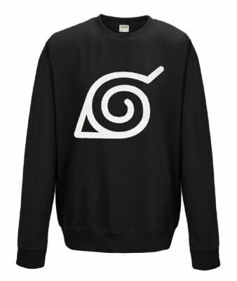 Naruto Sweatshirt - Konohagakure Logo  (schwarz)