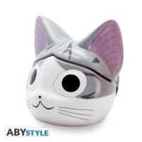 Kleine Katze Chi Keramiktasse - Chi 3D Kopf (350 ml)