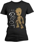 Guardians of Galaxy 2 Damen T-Shirt - I am Groot Scribbles (schwarz) S