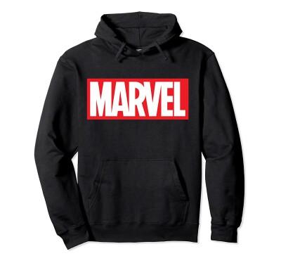 Marvel Comics Kapuzenjacke - Marvel Logo (schwarz) M