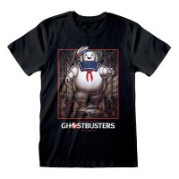 Ghostbusters T-Shirt - Stay Puft Square (schwarz)