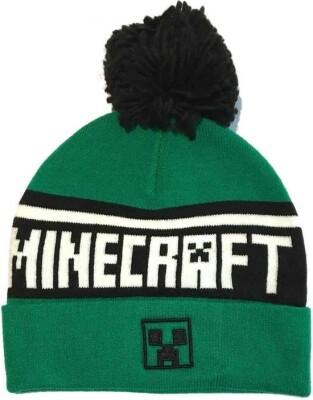 Minecraft Beanie Wollmütze: Creeper Logo