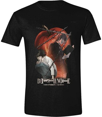 Death Note T-Shirt - Chained Notes (schwarz) L
