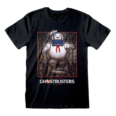 Ghostbusters T-Shirt - Stay Puft Square (schwarz) S