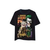Batman T-Shirt - Joker Comic Portrait (schwarz)