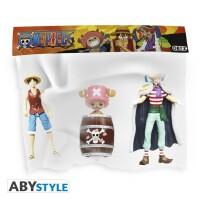 One Piece Actionfigurenset: Ruffy, Buggy & Chopper...