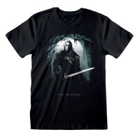 Witcher T-Shirt Silhouette Moon (schwarz)