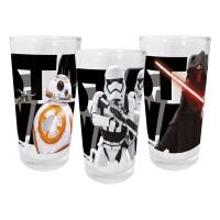 Star Wars Trinkglas 3er Set: Episode VII (200 ml)