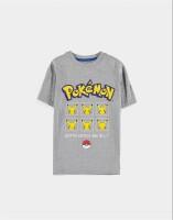 Pokemon Jugend Youth T-Shirt Pika Faces (grau)