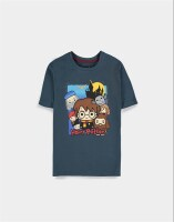 Harry Potter Jugend Youth T-Shirt Chibi Charas (navy)