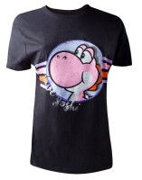 Super Mario Brothers Damen T-Shirt (Girlie): Pink Yoshi...
