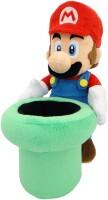Super Mario Plüschfigur: Mario mit Warp Pipe (26 cm)