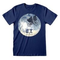 E.T. Der Außerirdische T-Shirt - Moon Silhouette...