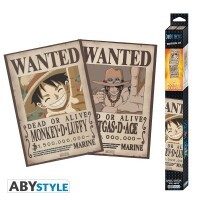 One Piece Poster-Set: Chibi Posters - Wanted Ruffy &...