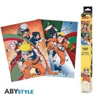 Naruto Poster-Set: Chibi Posters - Team 7 (52 x 38 cm)