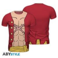 One Piece T-Shirt - Replica Ruffy New World (fullprint)
