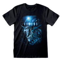 Alien T-Shirt - Aliens Key Art (schwarz)