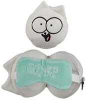 Simons Cat Reise-Kissen mit Schlafmaske