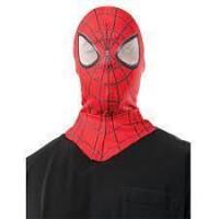 Spider-Man Stoffmaske (rot) für Erwachsene