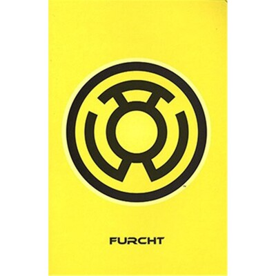 Blackest Night 7 - Yellow Logo Variant (Furcht)