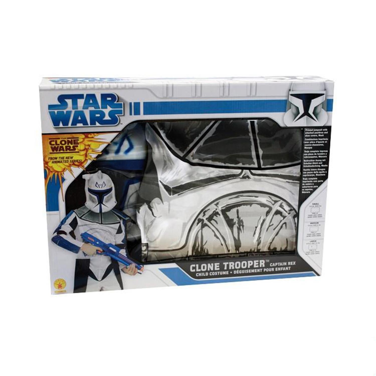 star wars kost m set f r kinder clone trooper captain rex x comics. Black Bedroom Furniture Sets. Home Design Ideas