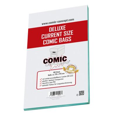 Comic Concept Deluxe Current Size Bags (176 x 270 mm) mit Lasche