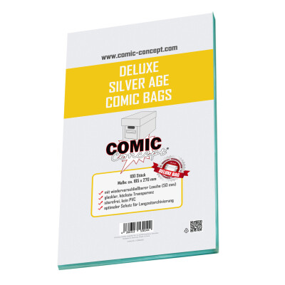 Comic Concept Deluxe Silver Age Bags (185 x 270 mm) mit Lasche
