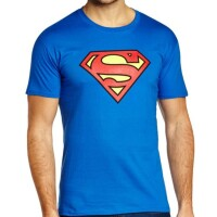 Superman T-Shirt - Classic Logo (blau)