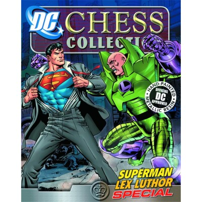DC Comics Chess Collection Magazin Special + Statue 3: Superman & Lex Luthor (Alternative Kings)