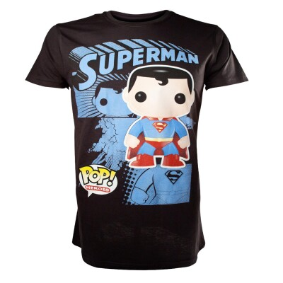 Superman T-Shirt - Grapic Art (schwarz)