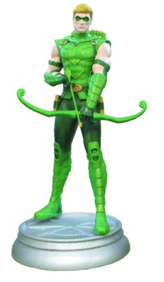 DC Comics Chess Collection Magazin + Statue 43: Green Arrow (White Pawn)