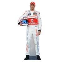 Formel 1 Pappaufsteller (Stand Up) - Jenson Button (184 cm)