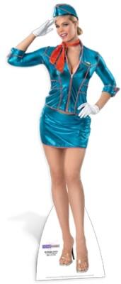 Air Hostess Pappaufsteller (Stand Up) - Sexy Flugbegleiterin (171 cm)