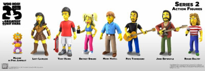 Simpsons 25th Anniversary Serie 2 Actionfiguren Maggie in pink jumpsuit